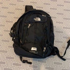 North Face Black Surge II Transit Backpack